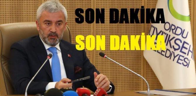 Ordu Büyükşehir Belediye Başkanı'nın İstifası İstendi